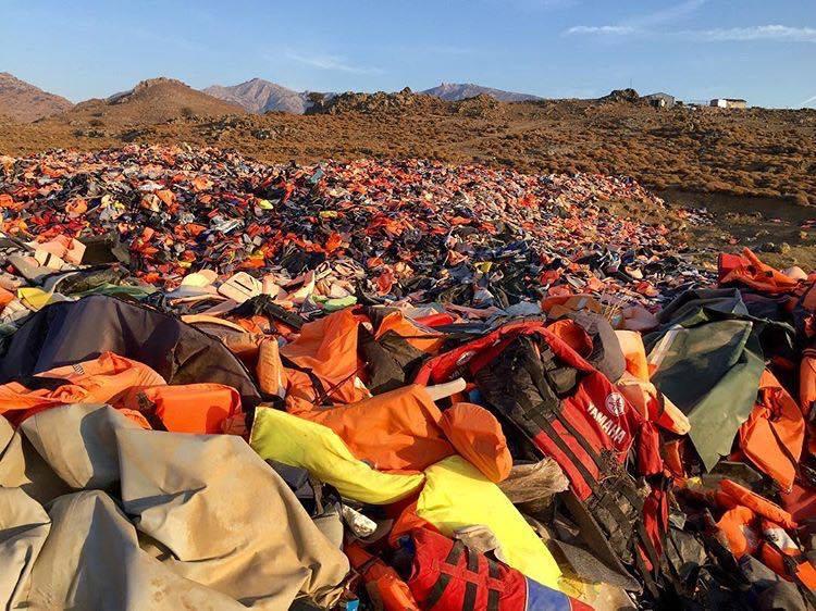 Flytvästkyrkogården på Lesbos
